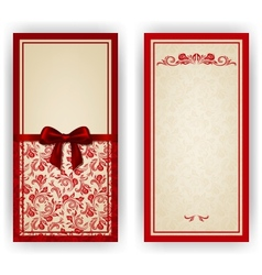 Elegant template for luxury invitation card vector image vector image