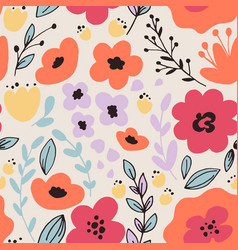 fantasy flowers seamless pattern vector image vector image