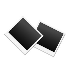 photo frame in black and white colors vector image vector image