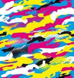 pop art camouflage vector image vector image