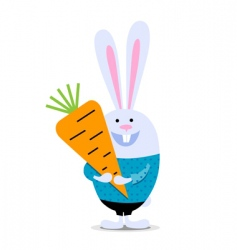 rabbit with carrot vector image vector image