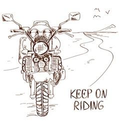 Sketch with motorbike vector image vector image