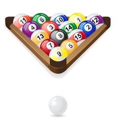billiard balls 02 vector image