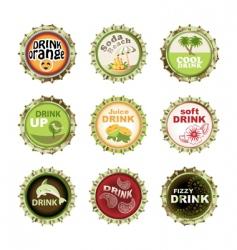 bottle cups set vector image