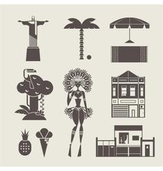 Brazillian icons vector image vector image