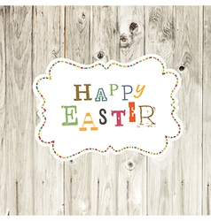 easter card wooden backdrop vector image vector image