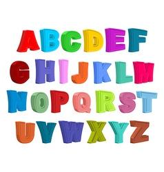 Font children Colorful alphabet Letters in child vector image