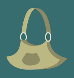 Icon in flat design fashion clothes handbag vector