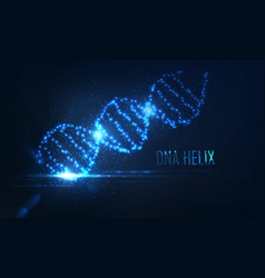 nenon dna helix consist of glowing particles vector image
