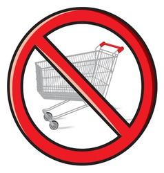 No shopping vector image vector image
