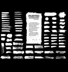 painted grunge stripes set vector image