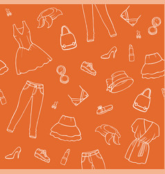 background with a fashion icons vector image