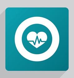 flat heart pulse icon vector image vector image