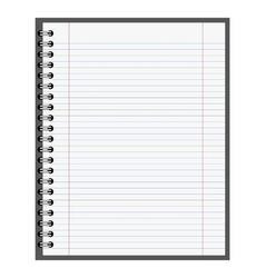 note book paper vector image