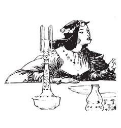 princess vintage vector image vector image