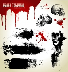 scary textures vector image vector image
