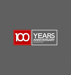 100 years anniversary in square with white vector