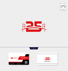 25 bridge building logo template business card vector image