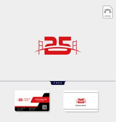 25 bridge building logo template business card vector