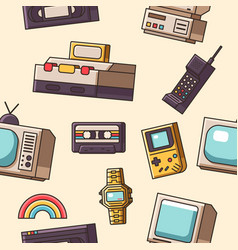 90s seamless pattern vector image