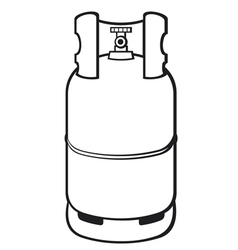 a propane gas cylinder vector image