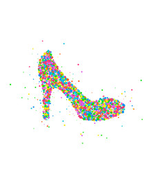 Abstract female shoe vector