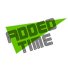 Added time sticker vector