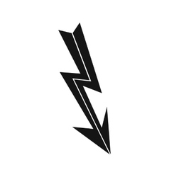 Arrow lightning icon simple style vector