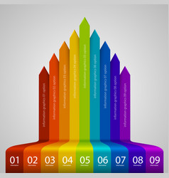arrows business growth rainbow vector image