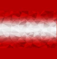 austria flag polygonal vector image