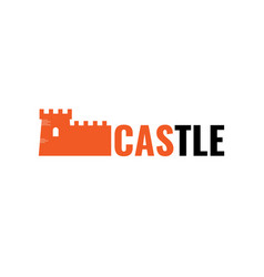 authentic castle tower symbol for logo or icon vector image
