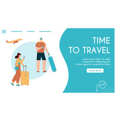 banner time to travel vector image