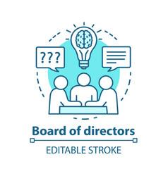 Board directors concept icon business meeting vector