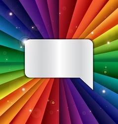 Bright rainbow celebration holiday banner vector image