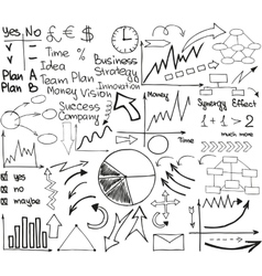 Business material set vector image