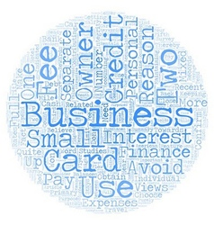 Business Owners Views of Business Credit Cards vector