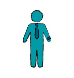 Businessman draw silhouette vector
