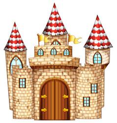 castle tower with wooden door vector image