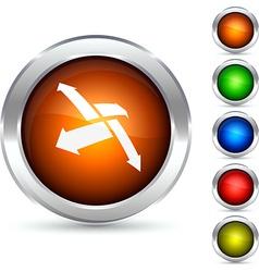 Decentralization button vector