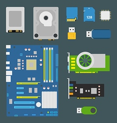 Different computer devices collection vector