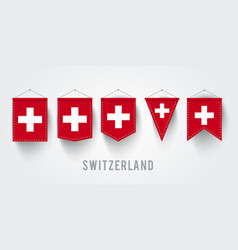 different switzerland set vector image