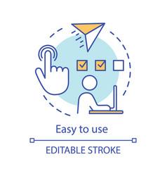 Easy to use concept icon vector
