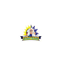 Einstein professor logo icon vector