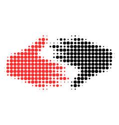 fair trade handshake halftone dotted icon vector image