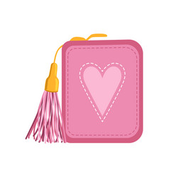 Female pink purse money and finance vector