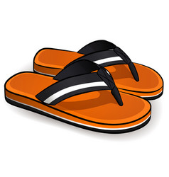 flip flops orange design vector image