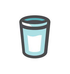 glass with water icon cartoon vector image