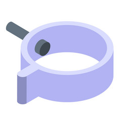 Gutter mount icon isometric style vector