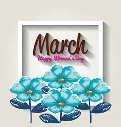 Happy womens day decoration vector