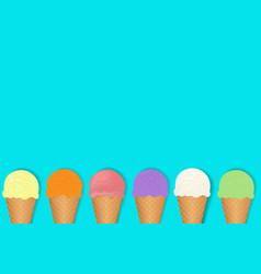 ice cream border vector image vector image